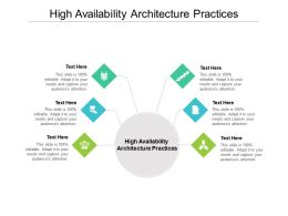 High Availability Architecture Practices Ppt Powerpoint Presentation Gallery Cpb