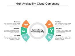 High Availability Cloud Computing Ppt Powerpoint Presentation Portfolio Grid Cpb