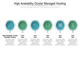 High Availability Cluster Managed Hosting Ppt Powerpoint Presentation Portfolio Example Topics Cpb