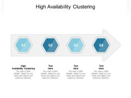 High Availability Clustering Ppt Powerpoint Presentation Model Summary Cpb