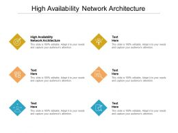 High Availability Network Architecture Ppt Powerpoint Presentation Professional Cpb