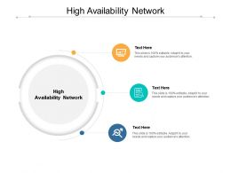 High Availability Network Ppt Powerpoint Presentation Show Slides Cpb