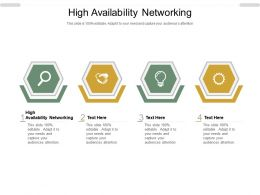 High Availability Networking Ppt Powerpoint Presentation Gallery Topics Cpb