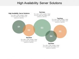 High Availability Server Solutions Ppt Powerpoint Presentation Visual Aids Cpb