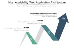 High Availability Web Application Architecture Ppt Powerpoint Presentation Infographics Cpb
