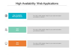 High Availability Web Applications Ppt Powerpoint Presentation Pictures Slide Download Cpb