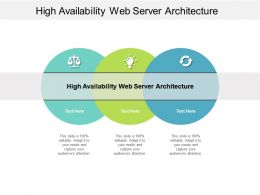 High Availability Web Server Architecture Ppt Powerpoint Presentation Infographic Template Graphic Tips Cpb