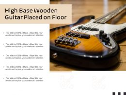 High Base Wooden Guitar Placed On Floor
