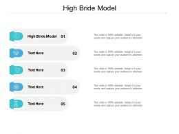 High Bride Model Ppt Powerpoint Presentation Professional Infographics Cpb