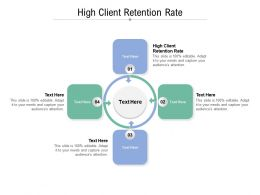 High Client Retention Rate Ppt Powerpoint Presentation Gallery Design Ideas Cpb