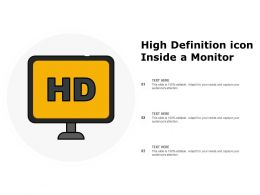 High Definition Icon Inside A Monitor