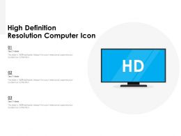 High Definition Resolution Computer Icon