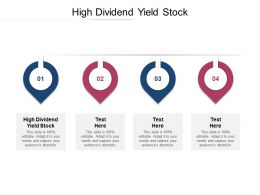 High Dividend Yield Stock Ppt Powerpoint Presentation Layouts Pictures Cpb