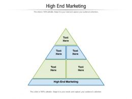 High End Marketing Ppt Powerpoint Presentation Slides Styles Cpb