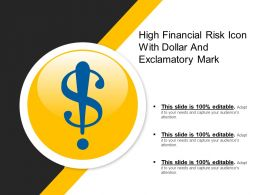 High Financial Risk Icon With Dollar And Exclamatory Mark