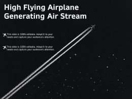 High Flying Airplane Generating Air Stream