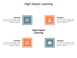 High Impact Learning Ppt Powerpoint Presentation Model Inspiration Cpb