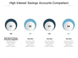 High Interest Savings Accounts Comparison Ppt Powerpoint Presentation Layouts Cpb
