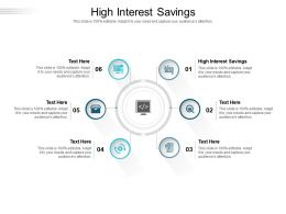 High Interest Savings Ppt Powerpoint Presentation Gallery Pictures Cpb