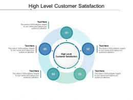 High Level Customer Satisfaction Ppt Powerpoint Presentation Pictures Cpb