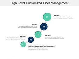 High Level Customized Fleet Management Ppt Powerpoint Presentation Diagram Images Cpb