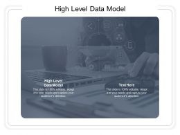 High Level Data Model Ppt Powerpoint Presentation Inspiration Images Cpb