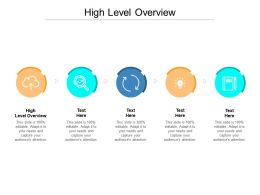 High Level Overview Ppt Powerpoint Presentation Pictures Design Templates Cpb