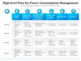 High Level Plan For Power Consumption Management