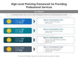High Level Planning Framework For Providing Professional Services