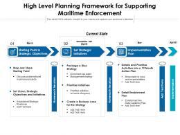 High Level Planning Framework For Supporting Maritime Enforcement