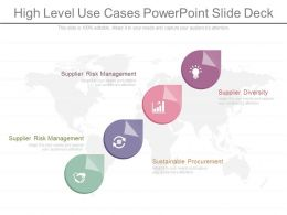 High Level Use Cases Powerpoint Slide Deck