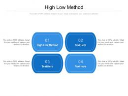 High Low Method Ppt Powerpoint Presentation Styles Cpb