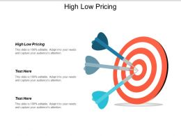 High Low Pricing Ppt Powerpoint Presentation Infographics Designs Cpb