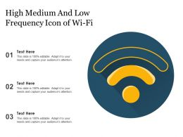 High Medium And Low Frequency Icon Of Wi Fi