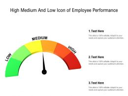 High Medium And Low Icon Of Employee Performance