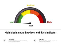 High Medium And Low Icon With Risk Indicator