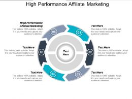 High Performance Affiliate Marketing Ppt Powerpoint Presentation Gallery Structure Cpb