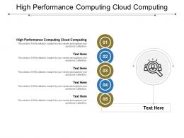 High Performance Computing Cloud Computing Ppt Powerpoint Presentation Model File Formats Cpb