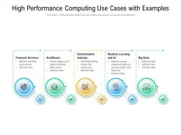 High Performance Computing Use Cases With Examples