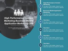 High Performance Content Marketing Business Mobile Application Marketing Cpb