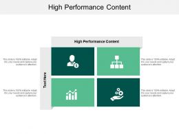 High Performance Content Ppt Powerpoint Presentation Infographics Visuals Cpb