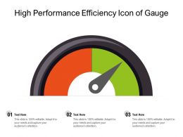 High Performance Efficiency Icon Of Gauge