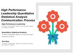 High Performance Leadership Quantitative Statistical Analysis Communication Process Cpb