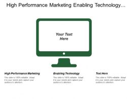 High Performance Marketing Enabling Technology Social Business Project