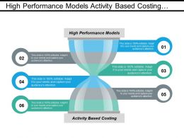 High Performance Models Activity Based Costing Market Segmentation Cpb