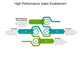 High Performance Sales Enablement Ppt Powerpoint Presentation Outline Tips Cpb