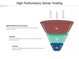 High Performance Server Hosting Ppt Powerpoint Presentation Portfolio Pictures Cpb