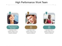 High Performance Work Team Ppt Slides Layouts Cpb