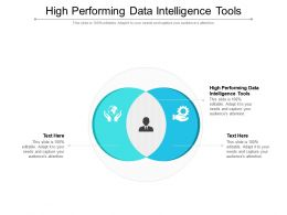 High Performing Data Intelligence Tools Ppt Powerpoint Presentation Show Picture Cpb