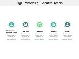 High Performing Executive Teams Ppt Powerpoint Presentation File Display Cpb